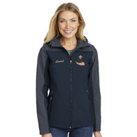 L335 - BSAE023 - EMB - Ladies Hooded Soft Shell Jacket